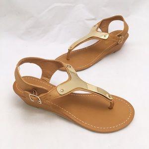 ShuShop Shoes - ShuShop Tan Sandals Wedges
