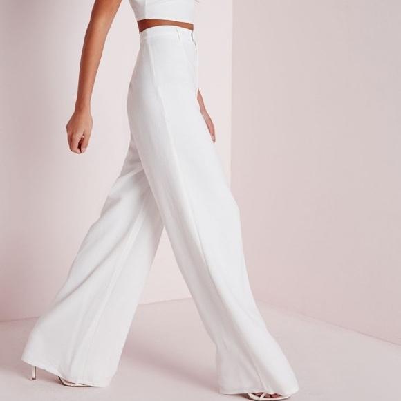 500dcf8c33c1 Petite High Waist White Wide Leg Trouser. M 576c5ae913302ac1560210f6