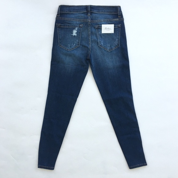 Jeans - Distressed Skinny Jeans With Notched Ankle