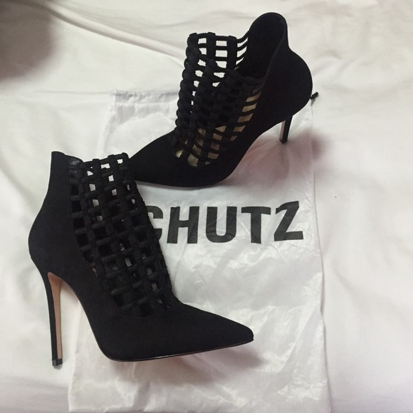 Schutz Leather Caged Booties 2014 cheap online N1tweC6W