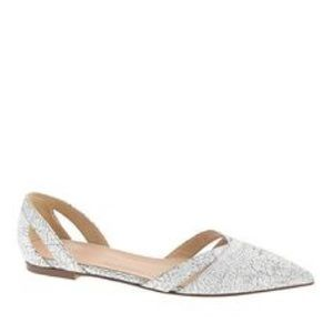 Jcrew cracked leather d'orsay flats