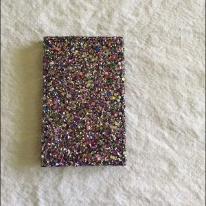 Sparkley J. Crew card holder