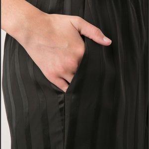 Theory Pants - Theory black trendy striped wide leg pants size 4