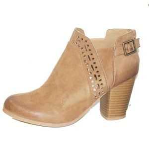 Cut out detail booties