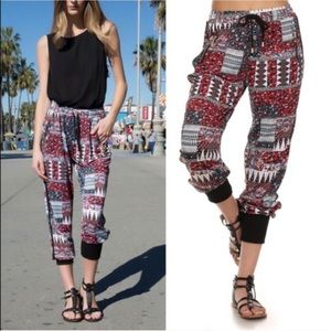 The GIGI jogger pants - RED