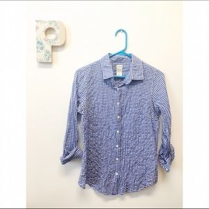 Crinkle Seersuckered Gingham Perfect Shirt 💕