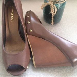 Classified Shoes - Brown wedges - Classified