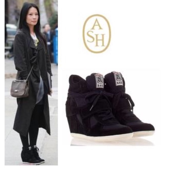 Ash Cool Canvas Suede Wedge Sneaker