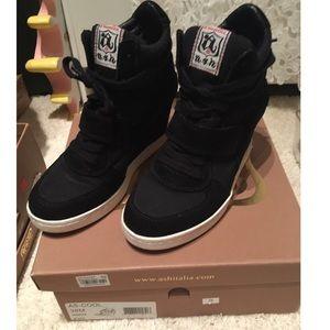 23ca41f818ec Ash Shoes - Ash Cool Canvas Suede Wedge Sneaker