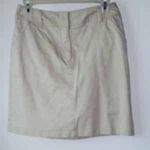 Croft & Barrow Dresses & Skirts - Croft&Barrow Khaki Mini Skirt