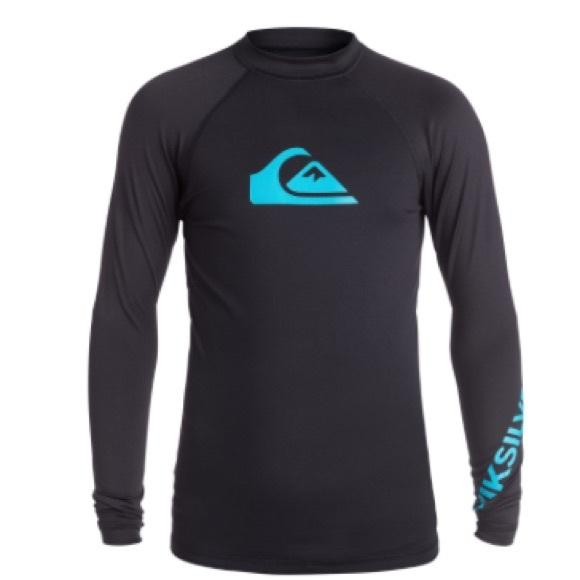 38f7b4a2d67b Quiksilver Swim | Boys Large 14 New Quicksilver Rashguard Shirt ...