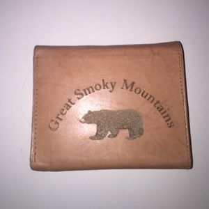 Leather Great Smoky Mountains Wallet
