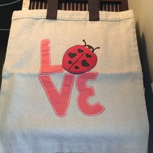 Hatley Handbags - NWT Ladybug LOVE Cotton Tote Bag by Hatley