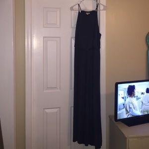 High neck maxi dress gap