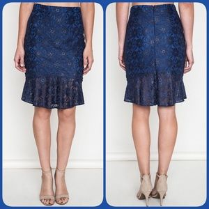 Umgee Dresses & Skirts - 🦋Sale!🦋💙Pencil Lace Skirt💙•Navy•