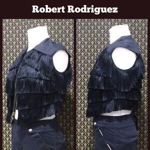 Robert Rodriguez Jackets & Blazers - Robert Rodriguez Fringe Vest