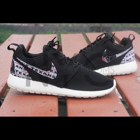cheaper f63b6 9ca42 Houston Texan Nike Roshe One Custom. NWT. Nike. M 576cd1f46d64bc7530030ebe.  M 576cd1f5713fde297d031214. M 576cd1f6f0137d0455030ec7