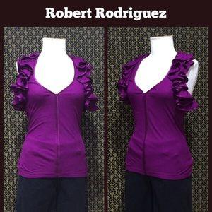Robert Rodriguez Tops - Robert Rodriguez Ruffle Accented Top