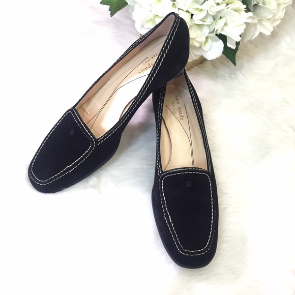 eb848120393 KATE SPADE black suede loafers