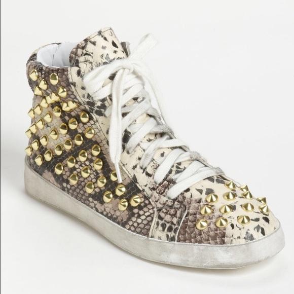 5901d3905833 Steve Madden Shoes | On Hold Studded Snake Print High Tops | Poshmark