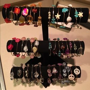 Bourbon and Bowties Jewelry - Wire wrapped bracelets.