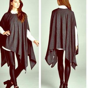 FashionBohoLoco Dresses & Skirts - Charcoal Cape Little Black Slip Dress LBD NWOT