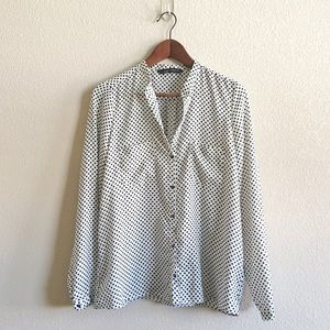 Zara Polka Dots Button Down Shirt