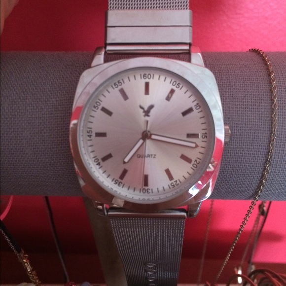 64% Off American Eagle Outfitters Jewelry - American Eagle Silver Watch. Never Worn From Ashley ...