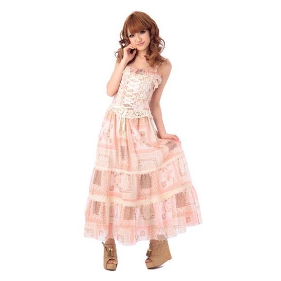 646b59c8d83 Liz Lisa Dresses   Skirts - NWOT Liz Lisa Maxi Dress Pink Lolita Kawaii ...