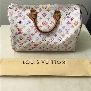 Authentic LE Louis Vuitton watercolor speedy 35