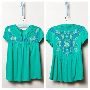 Anthropologie Joa Stitched Tee