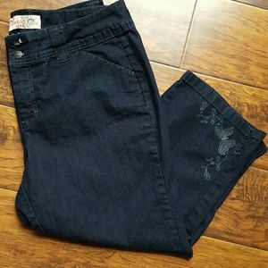Just My Size Pants - Denim stretch classic Capri Just My Size sz 18W