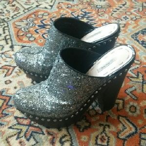 ON HOLD Miu Miu Glitter Clogs