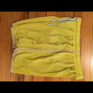 Womens Nike Mesh Shorts Size M Yellow