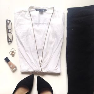 Armani Exchange Tops - AIX White Long Sleeve Blouse
