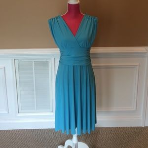 Sz L Teal Dress