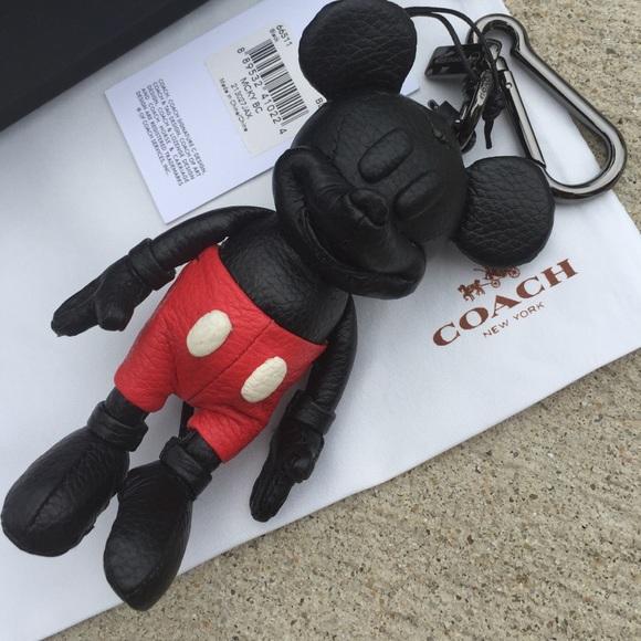 Coach Accessories Mickey Mouse Disney Key Fob Bag Charm