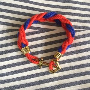 Jewelry - Red&Blue rope nautical/anchor bracelet
