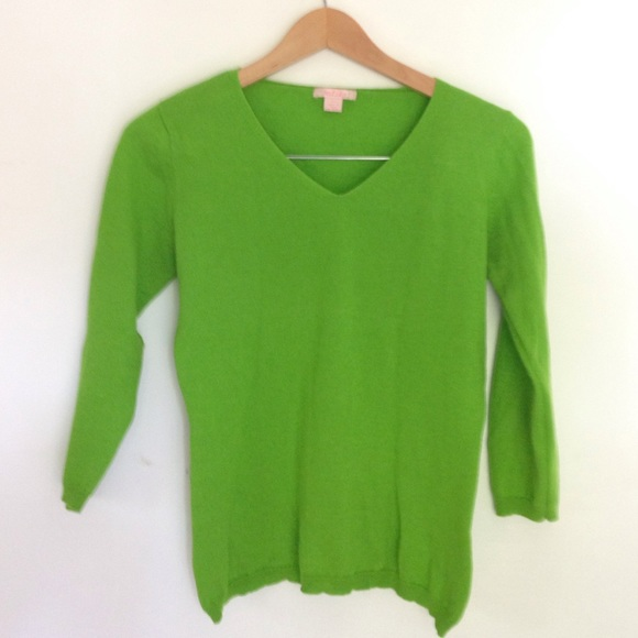 87% off Malika Sweaters - Lime green cashmere sweater from ...