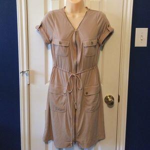 Boston proper/Muse size 8 tan Cargo dress