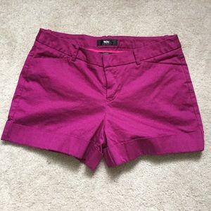 Purple Fuschia Tailored Shorts