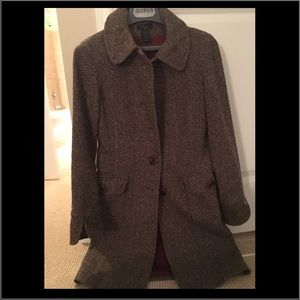 Frenchi Long fitted Twill Coat