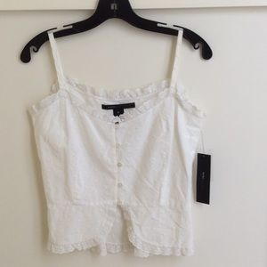 Marc Jacobs Tops - Marc Jacobs white eyelet top