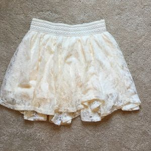Justice lace cream skirtWILL SHIP SAME DAY BOUGHT