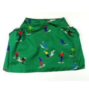 Au Jour Le Jour Dresses & Skirts - AU JOUR LE JOUR Green Ski Graphic Women's Skirt 40