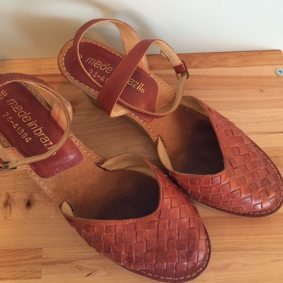 Vintage Shoes - Vintage Brazilian wedge sandals