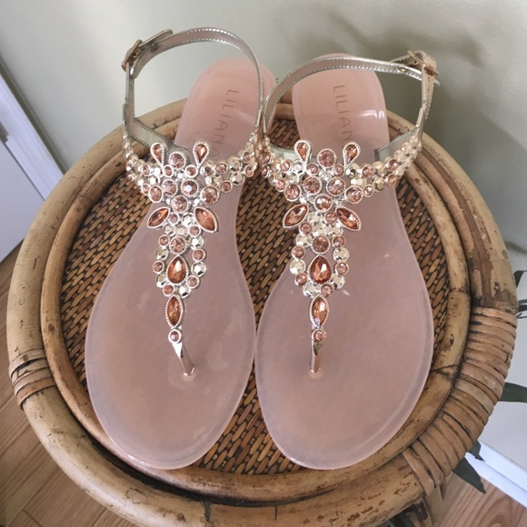 94a60f0ee3f7 EMBELLISHED JELLY SANDALS