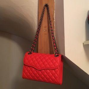 Red/orange mini Love bag by Rebecca Minkoff