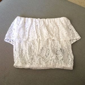 Lucca Couture Tops - Lucca couture white lace top