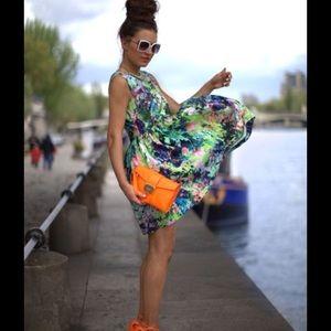 Zara Dresses & Skirts - ✨HPx5✨ ZARA neon floral print tulip dress